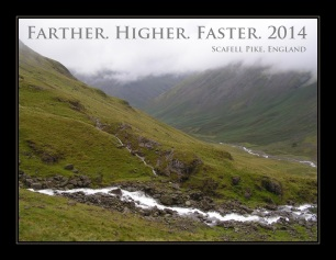 Farther. Higher. Faster. 2014.
